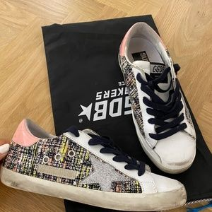 Superstar Boucle Lace-Up Sneakers Golden Goose